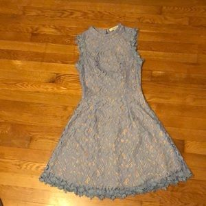 Periwinkle blue lace Francesca's dress